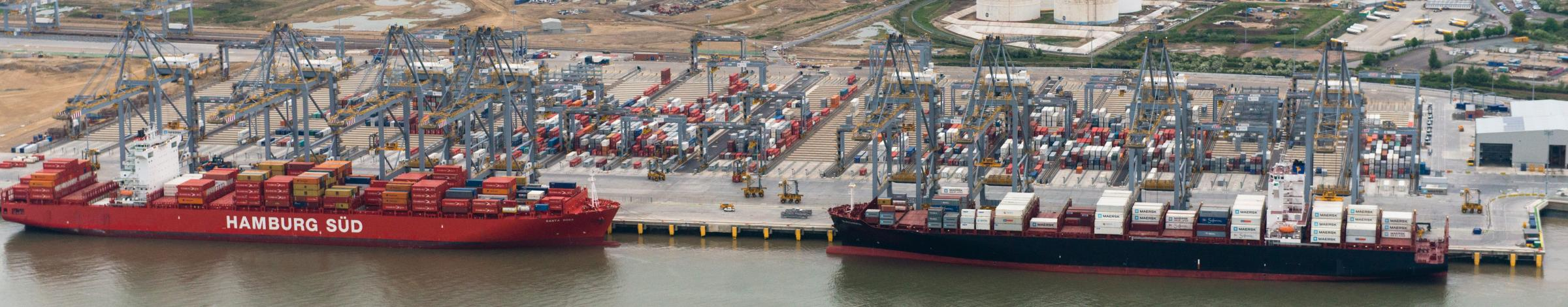 The two berths at London Gateway, now open for business