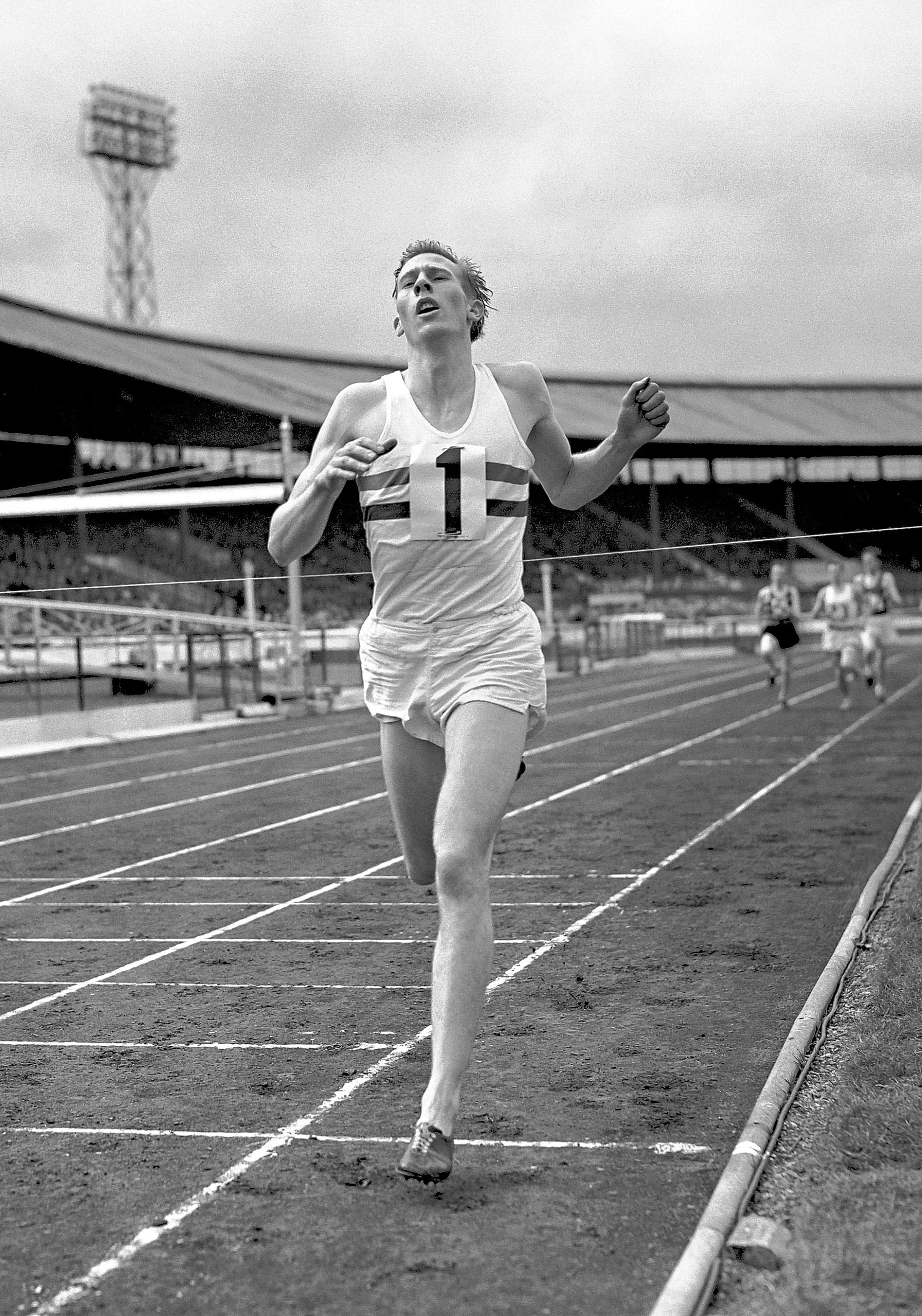 Roger Bannister breaks the four-minute mile for the first time
