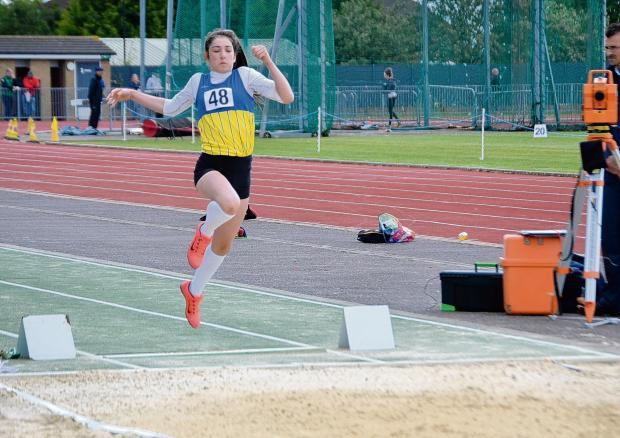 Kiera Bainsfair won a silver medal in the under-13 girls long jump
