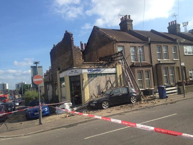 The collapsed corner shop