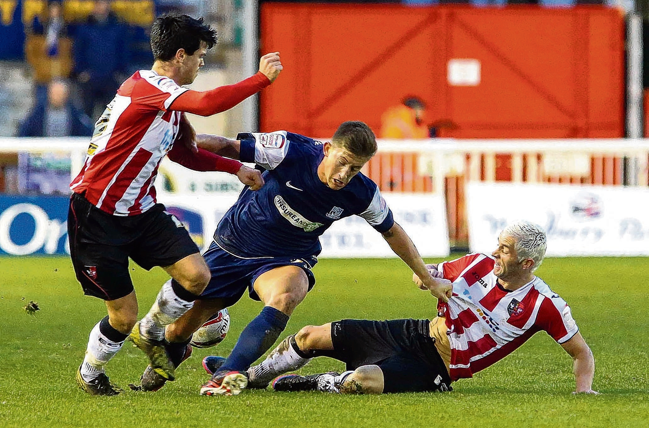 Alex Woodyard - in action for Southend against Exeter