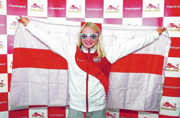 Basildon Recorder: Hayley McLean getting her England kit for the Commonwealth Games earlier this week