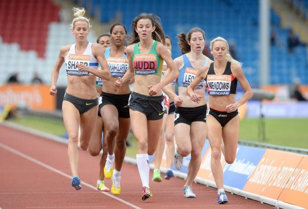 Basildon Recorder: Jessica Judd leads the 800m final but eventually finished fourth