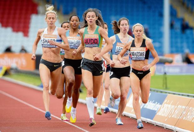 Jessica Judd in the 800m final