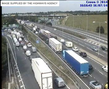 Traffic at Junction 2 of the M25