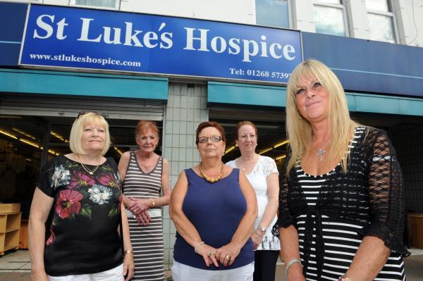 So disappointing – shop manager Jackie Martin, far right, with volunteers Lynda Eva, Lyn Fone, Chris Coates and Joyce Ralph