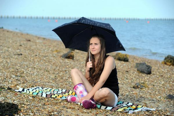 Extreme forecast – Becky Conner on Shoebury beach