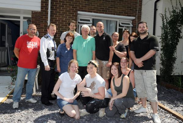 Police squad turn into team of DIY volunteers