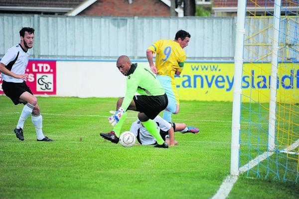 Jay Curran scores a sublime flick for Canvey on Saturday