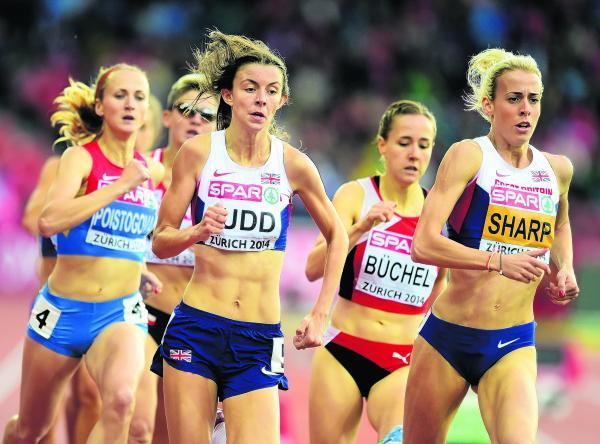 Jessica Judd racing at the European Championships