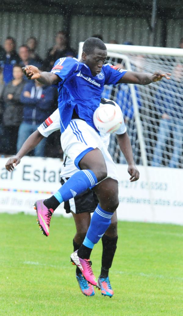 Hold up play - Billericay Town's Seedy Njie