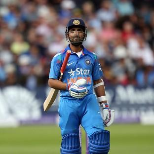 India's Ajinkya Rahane was dismissed for 45, but his innings has helped but the vi