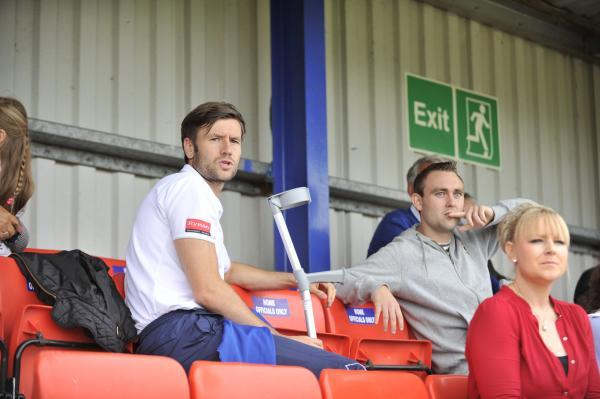 Nicky Cowley, left, has hung up his boots to become assistant manager