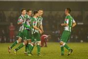 Wakering celebrate Johnson's first goal - PIC: SUSAN WATTS