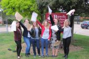 Students at Boswells School celebrate